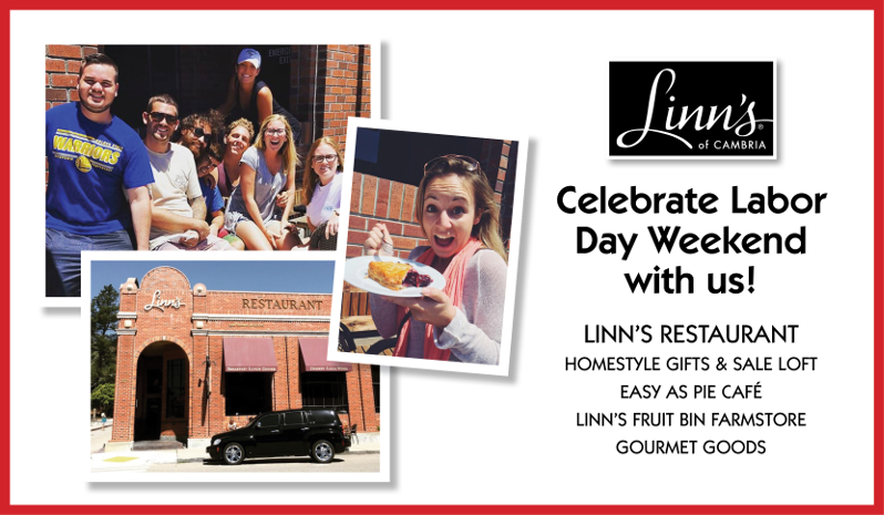Celebrate Labor Day Weekend with Linn's!
