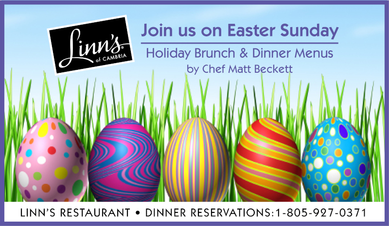 Join us at Linn´s on Easter Sunday for Holiday Brunch & Dinner by Chef Matt Beckett