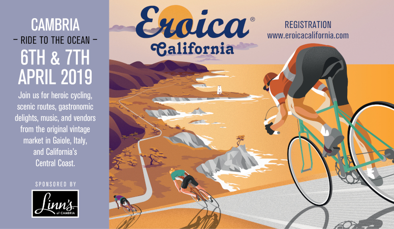 Linn's sponsered Eroica's Cambria Ride to the Ocean APril 6th and 7th